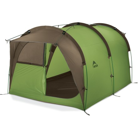 Camp and Hike The Backcountry Barn tent from MSR is unique in its class. The single-wall construction affords amazingly spacious protection for 4 - 5 people in a relatively small package. - $636.93