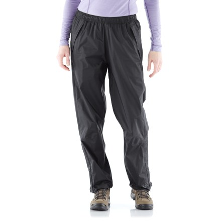 Fitness The women's REI Rainwall plus-size rain pants offer full-featured, waterproof breathable protection. Keep them in your pack, your car or on your bike for sudden changes in the weather. - $38.83