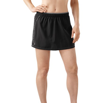 Fitness With a touch of naturally breathable and moisture-wicking merino wool, the women's SmartWool PhD Run skort keeps you comfortable during tough workouts. - $19.83