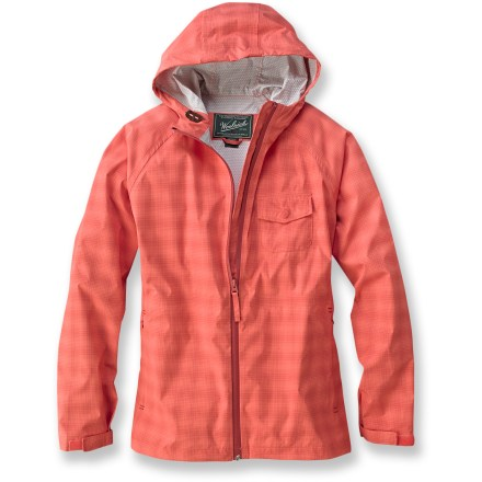 Fitness The Kristie rain jacket from Woolrich looks great in its beautiful plaid fabric. It offers lightweight waterproof, breathable and windproof protection so you can get on with your day. - $61.73