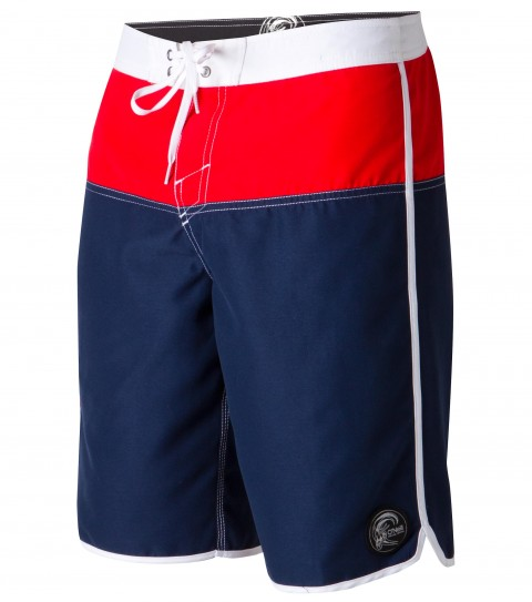 "Surf O'Neill Gojira Boardshorts.  Ultrasuede.  20"" outseam boardshort features contrast panels; waistband; sideseam and hem binding; comfort fly closure; side cargo pocket; circle surfer patch; embroidered and screened logos. - $25.99"