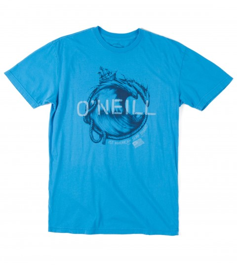 Surf O'Neill Shipwrecked Tee.  100% Ringspun cotton.  30 singles modern fit garment dyed tee with softhand screenprint. - $15.99