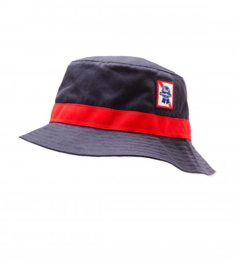 Surf O'Neill PBR Pabst Bucket Hat.  PBR Signature twill bucket hat with HDMD woven label; contrast twill band; interior pop  weatband with PBR screenprint.  Pabst Blue Ribbon collaboration hat. - $32.00