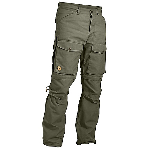 Free Shipping. Fjallraven Men's Gaiter Trousers No. 1 The SPECS Weight: (M): 778 g Fit/Waist: Regular fit /mid waist Leg Ending: Fixed, flexible leg endings Leg Type: Full leg G-1000 Heavy Duty: 65% polyester, 35% cotton G-1000 Eco: 65% polyester, 35% cotton Contains non-textile parts of animal origin (leather details) - $299.95