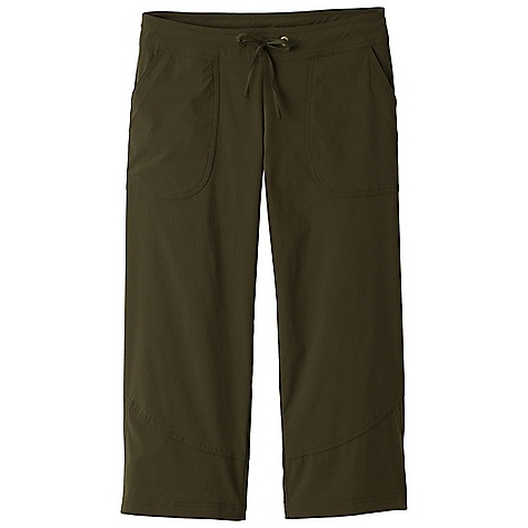 Free Shipping. Prana Women's Bliss Capri DECENT FEATURES of the Prana Women's Bliss Capri Stretch woven fabrication Active, outdoor capri Front patch pockets Drawcord waistband with rivet and grommet detailing UPF rating of 40+ Inseam: 22in. / 55.9 cm Relaxed fit - $55.95