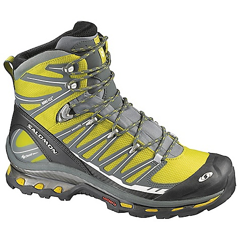 Camp and Hike Free Shipping. Salomon Men's Cosmic 4D 2 GTX Boot DECENT FEATURES of the Salomon Men's Cosmic 4D 2 GTX Boot Heel foam Waterproof nubuck leather Seamless sensifit Gusseted tongue Sensifit Protective rubber heel cap Mud guard Protective rubber toe cap Optimized fit for Women Heel Strap The SPECS Weight: 21.3 oz / 605 g Membrane: Gore-Tex Performance Comfort Footwear Lining: Textile Lining Construction: Waterproof bootie construction Outsole: Non marking Contagrip Chassis: 4D Advanced Chassis Sockliner: Ortholite Midsole: Molded EVA - $274.95