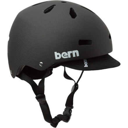 MTB High in tech, low in profile, the Bern Macon Carbon Fiber Helmet with Visor pairs ultralight carbon fiber with a skate-inspired look and feel so you can feel comfortable, stay safe, and look good doing it.Bern's hand-wrapped carbon thinSHELL is lightweight and unbreakable EPS hard foam bonded is the shell to save weight and keep the helmet low in profile while offering reliable, delam-free, high-impact protection Designed for multi-sport and all-season usage; simply remove the knit liner to use the Macon Carbon in warmer months Multiple vents keep you cool under pressure in any climate Liner and visor provide an easy way to increase warmth while wearing wear goggleswithout the annoying gap Chin strap offers three-point adjustability to dial in a secure and pressure-free fit - $199.95