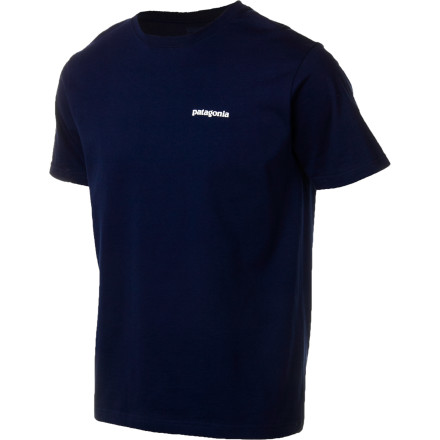 The Patagonia P-6 Logo T-Shirt is proud of the urban recycling program that you started in your home town. As sign of solidarity, the P-6 wants you to know that its inks are PVC- and phthalate-free, and, once you 1/2re done with it, its organic cotton fabric is recyclable through Patagonia 1/2s Common Threads Recycling Program. - $35.00