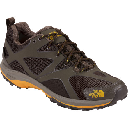 Camp and Hike When you only have a little time and a lot of miles to cover, lace up The North Face Men's Hedgehog Guide GTX Hiking Shoe. Weighing in at under a pound each, the Hedgehog boasts a Gore-Tex membrane for guaranteed waterproof protection and an EVA Cradle Guided midsole for cushioning and an enhanced natural stride. - $129.95