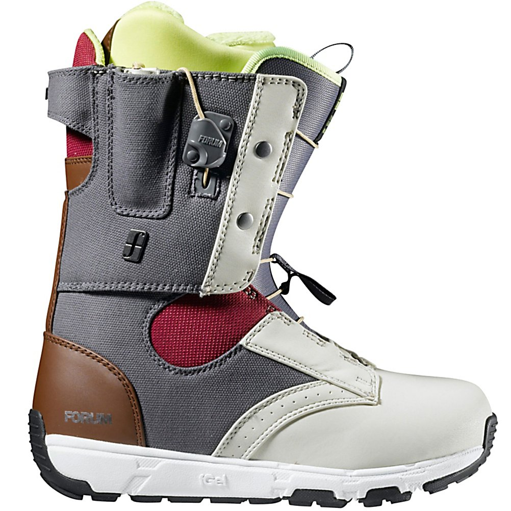 Snowboard Forum The Glove Womens Snowboard Boots - The Glove by Forum is the perfect combination of performance meets comfort. The Tweaker Cuff, Liner Panel, and Shell boast a soft inner flex for amplified tweakability. The Good Vibes outsole with FGel gives unparalleled cushioning and comfort no matter how hard you send it. The Speed Zone lacing gets you laced up quick for more shred time, while allowing for on-hill tweaks. The Forum Glove is going to make any women feel like their on top of the world. . Skill Range: Intermediate - Advanced, Model Year: 2013, Product ID: 308319, Gender: Womens, Skill Level: Intermediate, Model Number: 275321-077 6.5, Brand Lacing Style: Speed Zone, Intuition Liner: No, Warranty: One Year, Flex: Medium, Removable Liner: Yes, Snowboard Best Use: Freestyle, Lacing Style: Quick Lace, Material: Level 2 Liner with FGel Cushioning - $79.92