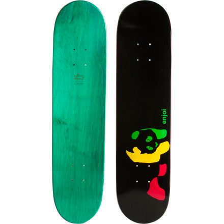 Skateboard Ride through the 'hood with the Enjoi Rasta Panda Skate Deck. Or suburbia, whichever comes first. Actually, if you're from suburbia, feel free to call your neighborhood the 'hood' but try to avoid going there. If you are truly from the 'hood, go wherever you want. - $34.96