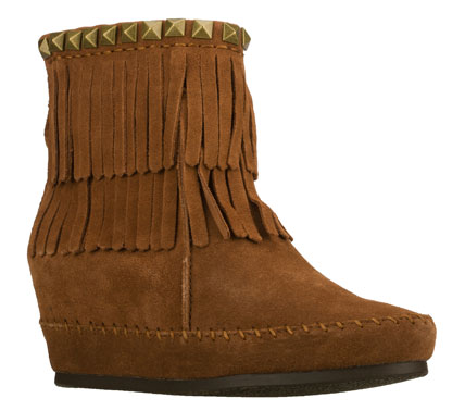 Enjoy all the benefits in style with the SKECHERS SKCH Plus 3: Soaring Eagle - Moro boot.  Soft suede upper in a hidden wedge back zipper casual ankle boot with fringe accents. - $59.50