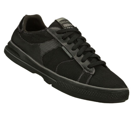 Rediscover a classic cool look with the SKECHERS Arcade shoe.  Mesh fabric and smooth faux leather upper in a lace up casual classic sneaker with stitching and overlay accents. - $49.00