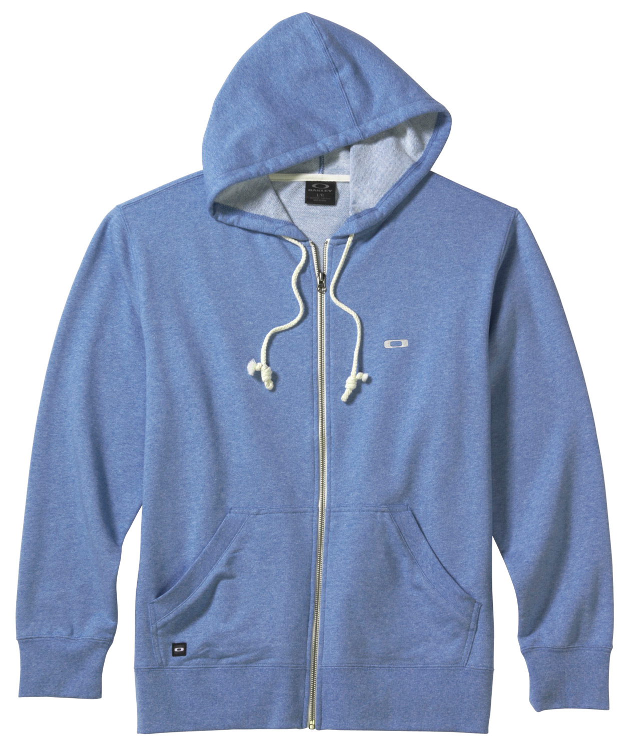 Full zip heather French terry hoodie with front hand pockets, natural drawcords and front logo embroideryKey Features of the Oakley Pennycross 2.0 Hoodie: 78% cotton/22% polyester - $42.95
