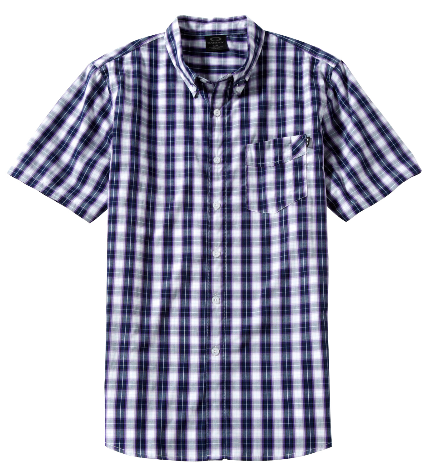 Yarn dye micro check shirt with button placket, angled chest pocket, front flag and back logo embroidery.Key Features of the Oakley Zipload Shirt: 100% cotton - $26.95