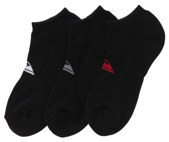 Surf Key Features of the Quiksilver Brute Ankle Socks: 70% cotton, 25% spandex, 5 % nylon 3 pack ankle sock with mtn wave logo . - $11.95
