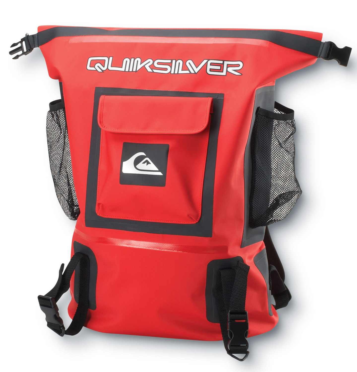 "Surf Key Features of the Quiksilver Sea Locker Backpack 32L: Volume: 32L Size: 19""x13""x8"" Seam sealed tarpaulin Roll top sealable dry bag Large main compartment 3 exterior storage pockets Reflective logos for visibility Adjustable external gear straps 3 interior zip mesh pockets for organization Padded shoulder straps - $80.00"