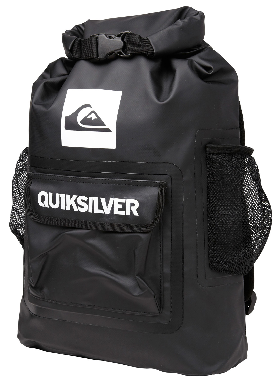 "Surf Key Features of the Quiksilver Sea Stash Backpack 20L: Volume: 20L Size: 19""x12""x5"" Seam sealed tarpaulin Roll top sealable dry bag Front pocket with velcro closure 2 exterior mesh side storage pockets Airmesh padded shoulder straps - $55.00"