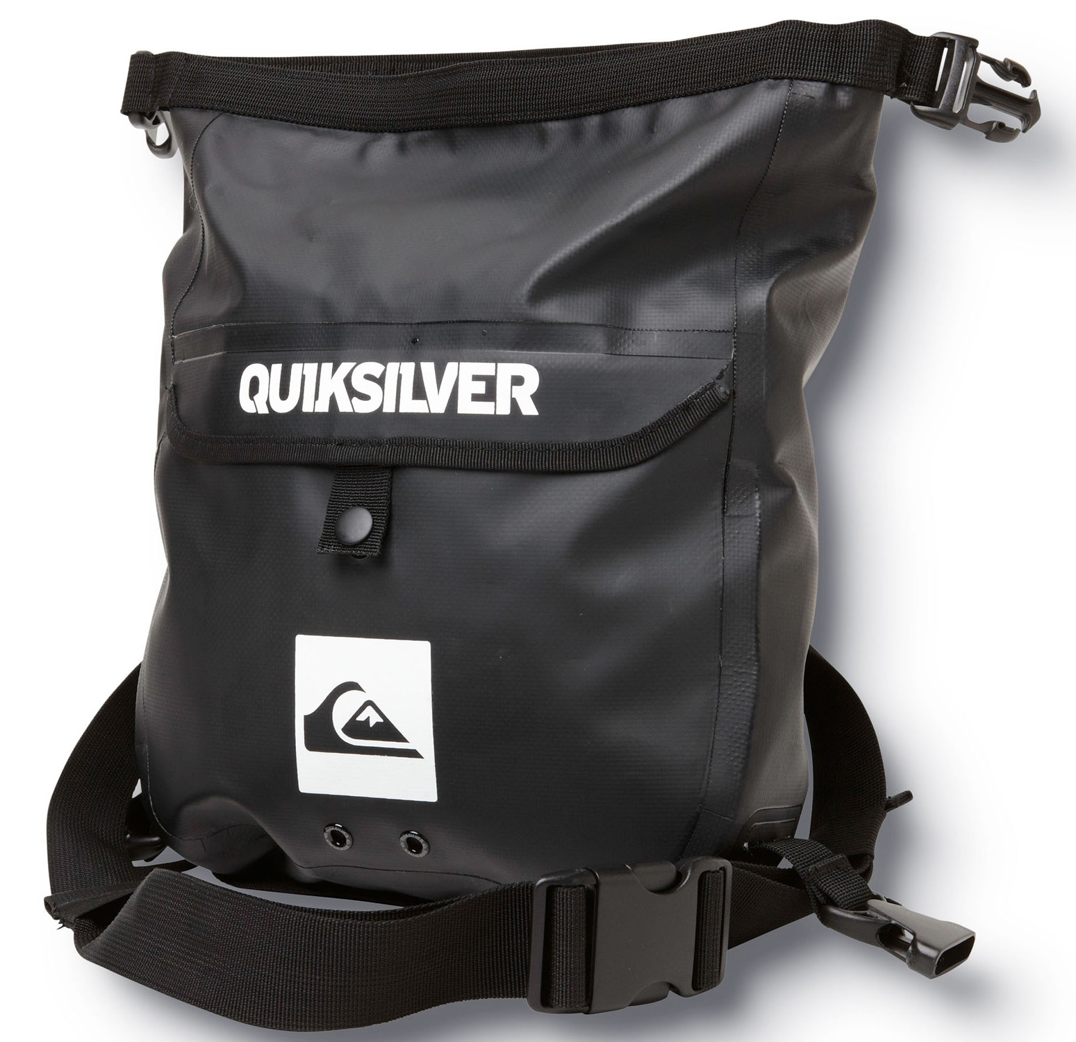 "Surf Key Features of the Quiksilver Sea Tote Backpack 4L: Volume: 4L Size: 13""x13""x3.15"" Seam sealed tarpaulin Roll top sealable dry waistpack with side SR buckles Sealable as a standard roll top dry bag as well Removable waist strap with velcro attachment points for attaching to other gear Front pocket with snap closure - $25.95"
