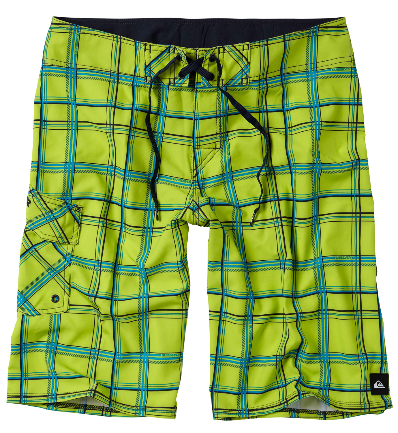 "Surf Key Features of the Quiksilver Paid In Full Boardshorts: 93% Polyester, 7% Spandex Water Repellent 4 Way Stretch 22"" Outseam Classic tie closure with Velcro at fly stretch stitch at hems lycra at inside front rise custom label and embroidery - $49.50"