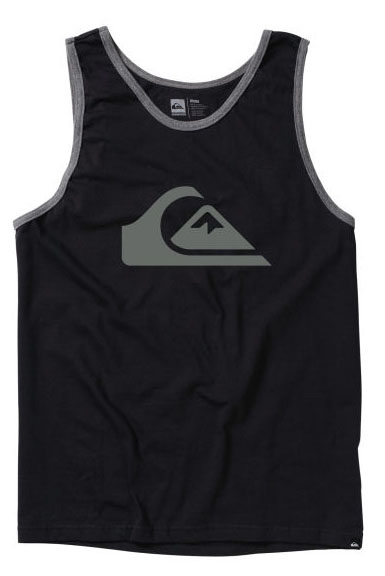Surf Key Features of the Quiksilver Mountain Wave Tank: 22 single s ringspun jersey. Contrast ribbed binding. SOLIDS: 100% cotton. HEATHERS: 50% cotton, 50% polyester. Slim fit. - $21.00