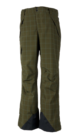 Ski Obermeyer Saranac Mens Ski Pant Mineral micro plaid. With an athletic fit and dap fabrics like MicroPlaid, you will be looking Aspen good. - $100.00