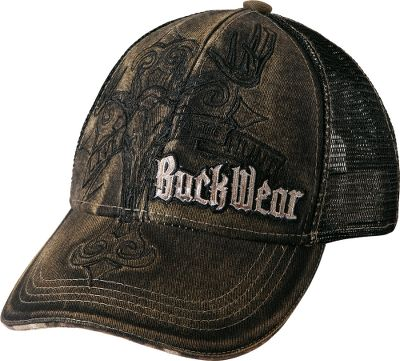 Hunting This medium-profile 100% cotton cap features bold Buck Wear logos on the front and back with Realtree camo accents. Soft mesh back panels make sure your head stays cool. Adjustable hook-and-loop back strap. One size fits most. Imported.Color: Black. - $17.99