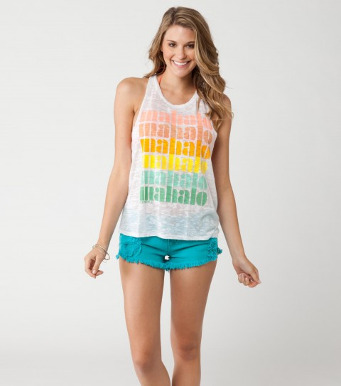 Surf O'Neill Mahalo Tank.  50% Cotton / 50% Polyester.  Burnout washed wipe out tank. - $13.99