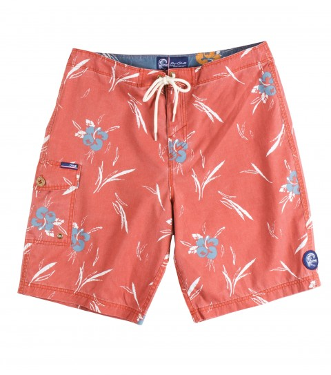"Surf Jack O'Neill Budd Boardshorts.  Cotton / nylon blend boardshort with vintage inspired floral print. Heavy wash for comfort. Side cargo pocket with fin key and bottle opener; and back pocket with button closure. 21"" outseam.Receive a one-year paid subscription to Surfer Magazine with this Jack O'Neill Originals boardshort!As Seen In Men's Journal Magazine June 2013 Issue!! - $29.99"