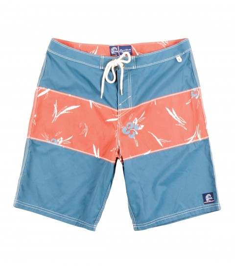 "Surf Jack O'Neill West Peak Boardshorts.  Cotton / Nylon blend boardshort. Vintage inspired short with printed floral panel inset. Heavy enzyme wash for comfort. Contrast stitch detailing and floral lined interior waistband. 20"" outseam.Receive a one-year paid subscription to Surfer Magazine with this Jack O'Neill Originals boardshort! - $29.99"
