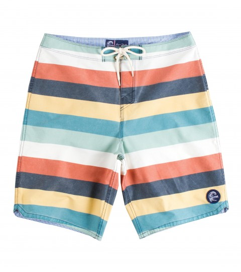 "Surf Jack O'Neill Mamba Boardshorts.  Cotton / Nylon / Spandex pigment printed board short. Featuring an distinctive engineered stripe and a heavy enzyme wash for comfort. 4% spandex added for stretch and performance. 21"" outseam.Receive a one-year paid subscription to Surfer Magazine with this Jack O'Neill Originals boardshort! - $32.99"