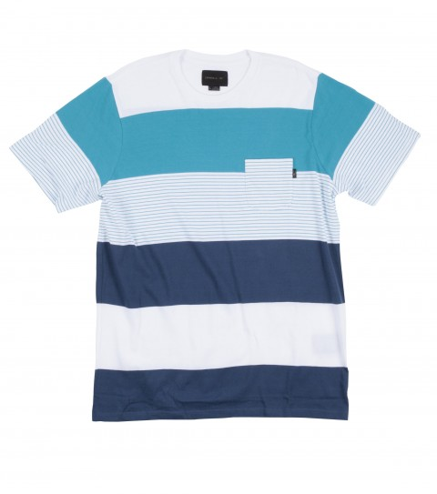 Surf O'Neill Hack Crew is made of 100% cotton; jersey engineered stripe knit crew with heavy enzyme/silicone softener wash. Standard fit; with logo embroideries and labels. - $25.99