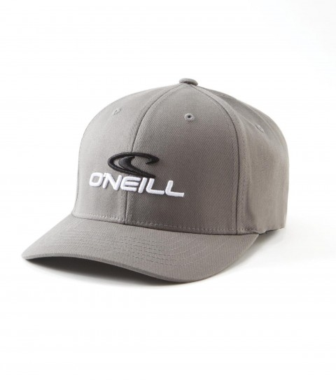 Surf O'Neill Staple Hat: Wooly combed stretch fabric 6 panel flex fit hat with contrast front panel; center front and small back embroideries.  Curved visor. - $22.99