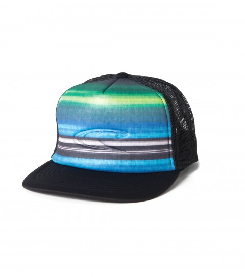 Surf O'Neill Blanked Snapback Trucker Hat.  Polyester / foam / mesh.  5 Panel deep fit trucker hat with sublimated front panel; embossed logo and back label ; snap back closure and slight curved visor.  One size fits most. - $22.00