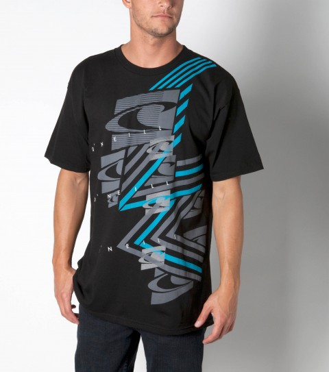 Surf O'Neill Jetstream Tee: 100% ringspun cotton; basic fit tee with softhand screenprint. - $14.99