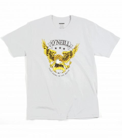 Surf O'Neill 100% ringspun cotton; prewashed 30 singles slim fit tee with softhand screenprint. - $22.00