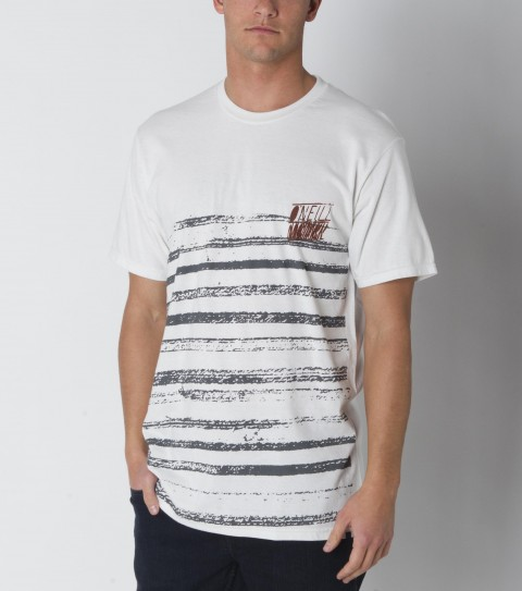 Surf O'Neill tee 100% ringspun cotton; prewashed 30 singles slim fit tee with softhand screenprint and attached hem label. - $15.99