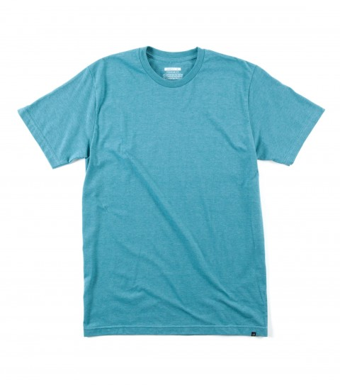 Surf O'Neill Version Tee.  50% cotton/ 50% poly; 30 singles slim fit heather tee with attached hem label. - $15.99