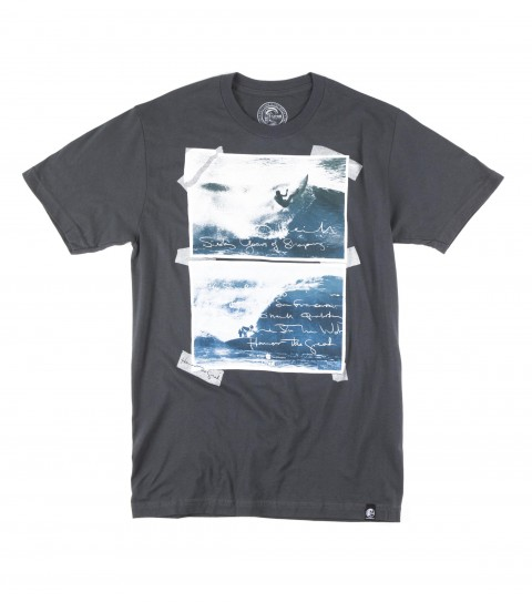 Surf O'Neill tee 100% ringspun cotton; prewashed 30 singles fit tee with softhand screenprint and attched hem label. - $15.99