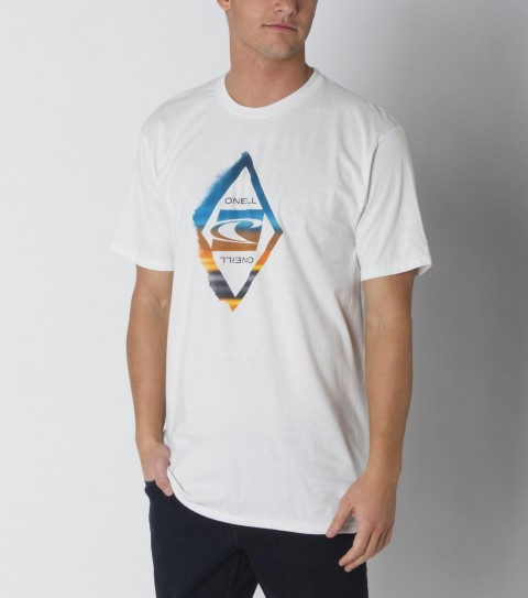 Surf The O'Neill Influence Hybrid Tee is made of 85% polyester / 15% cotton; basic fit tee with softhand screenprint and attached hybrid sticker. - $21.99