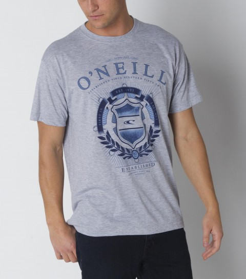Surf The O'Neill Commissioner Hybrid is made of 85% polyester / 15% cotton; basic fit tee with softhand screenprint and attached hybrid sticker. - $21.99
