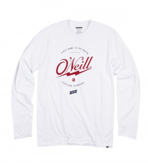 Surf O'Neill Revolve Longsleeve Tee.  100% Ringspun cotton; 30 singles tee with soft hand screenprint and attched hem label. - $14.99