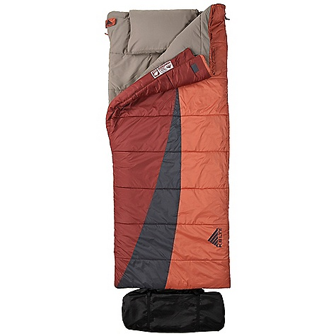Camp and Hike Free Shipping. Kelty Eclipse 30 Degree Sleeping Bag DECENT FEATURES of the Kelty Eclipse 30 Degree Sleeping Bag Two-layer off-set quilt construction Two-way, locking blanket zipper Zipper draft tube with anti-snag design Can be fully unzipped and opened flat for use as a blanket Internal liner loops Sleeping pad security loops Differential cut to maximize loft and warmth Pillow pocket Integrated compression storage sack Fat Man and Ribbon draw cords Zippered chest pocket Two bags can be zipped together to form a double-wide The SPECS Temperature Rating: 30deg F / -1deg C Shape: Rectangular Material: Shell: 50D Polyester Rip stop, Liner: Polyester-Cotton, Insulation: Cloud Loft The SPECS for Short Fit To: 5' 4in. / 163 cm Length : 66in. / 168 cm Shoulder Girth: 56in. / 142 cm Fill Weight: 37 oz / 1.0 kg Total Weight: 4 lbs 3 oz / 1.9 kg Stuffed Diameter: 11in. / 28 cm Stuffed Length: 22in. / 56 cm The SPECS for Regular Fit To: 6' 5in. / 196 cm Length : 80in. / 203 cm Shoulder Girth: 68in. / 173 cm Fill Weight: 50 oz / 1.4 kg Total Weight: 5 lbs 11 oz / 2.6 kg Stuffed Diameter: 14in. / 36 cm Stuffed Length: 28in. / 71 cm The SPECS for Double Fit To: 6' 5in. / 196 cm Length : 80in. / 203 cm Shoulder Girth: 136in. / 345 cm Fill Weight: 100 oz / 2.8 kg Total Weight: 10 lbs 15 oz / 4.9 kg Stuffed Diameter: 17in. / 43 cm Stuffed Length: 38in. / 97 cm - $79.95