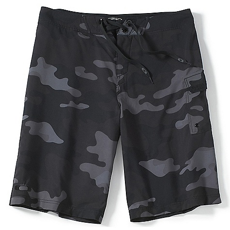 Free Shipping. Oakley Men's Camouflage Short DECENT FEATURES of the Oakley Men's Camouflage Short O Stretch Ripstop fabric with 4-way stretch creates a comfortable, natural fit Velcro flap pocket at leg with drainage eyelet and interior loop for secure storage Quick-drying fabric increases comfort out of the water No-side-seam construction minimizes friction 94% Polyester, 6% Spandex Fit: Regular Outseam: 22in. on 28in.-40in. waist size - $60.00