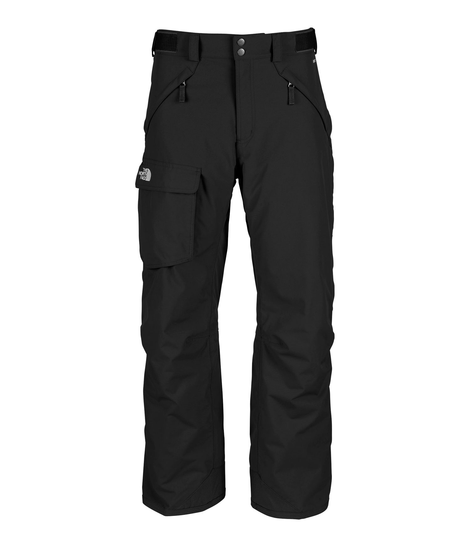 "Ski Free-fitting, high-performance pant with durable, waterproof construction. Key Features of The North Face Freedom Shell Ski Pants: Avg Weight: 770 g (27.16 oz) Inseam: S 29"", R 31"", L 33"" Fabric: 210D x 235D 189 g/m2 HyVent® 2L foxfaille nylon faille Waterproof, breathable, fully seam sealed Adjustable waist tabs Handwarmer zip pockets Exterior thigh vents with mesh gussets Flap cargo pocket StretchVent ™ gaiter with gripper elastic Chimney Venting™ system Reinforced cuff - $97.95"
