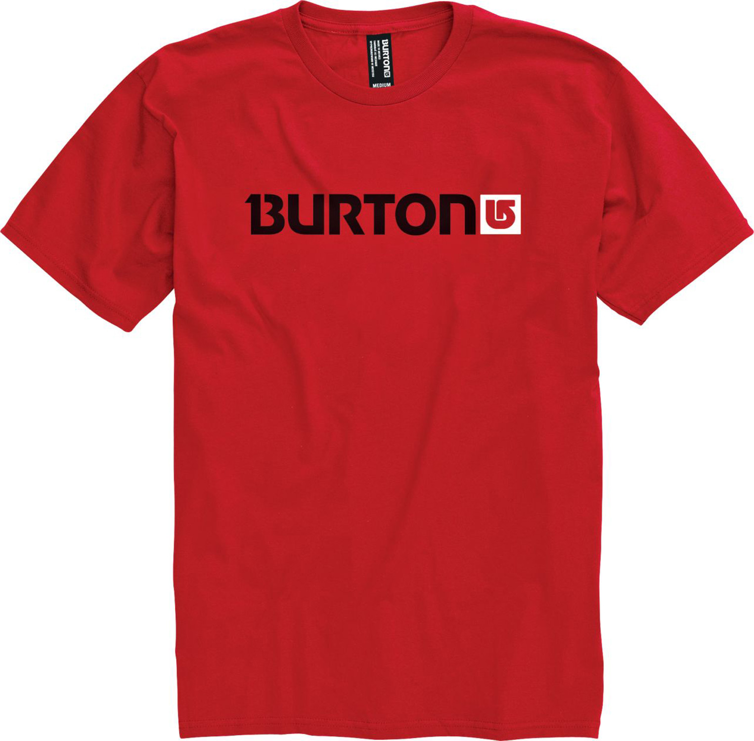 Snowboard Key Features of The Burton Logo Horizontal T-Shirt: Regular Fit Crew Neck Short Sleeve 100% Cotton Regular Fit Screen Print on Front and Back - $15.95
