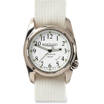 Camp and Hike The Bertucci A-2T Procolor Bianco watch has cool retro 1960's styling and contemporary performance and sophistication. - $79.93