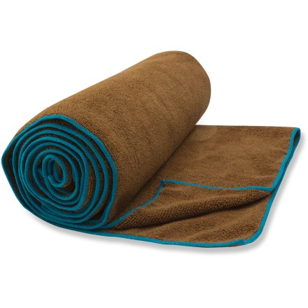 Camp and Hike The Gaiam Sol OM Thirsty towel fits perfectly over your yoga mat to soak up sweat and ensure you have good grip during hot yoga, power yoga or vigorous vinyasa classes. - $24.93