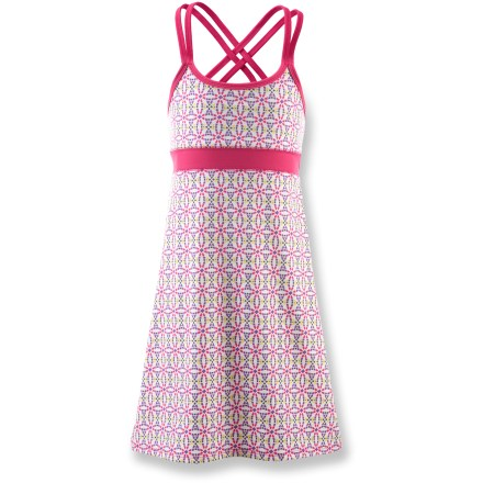 Entertainment The girls' SOYBU Carissa dress combines colorful flare with the perfect amount of coverage for enjoying life in warm weather. - $10.83