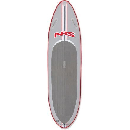 Surf Designed for big paddlers that venture into rough waters, the NRS Baron 4 inflatable stand up paddleboard offers rigid stability with a soft touch. - $1,014.93